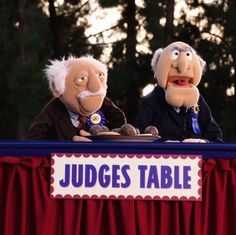 "The Muppets's photo. ""Where else would these curmudgeons sit?"""