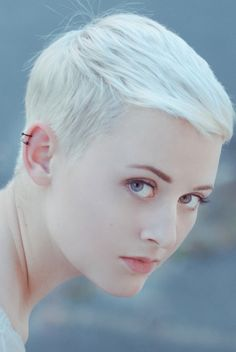 Bleached blonde pixie - @Lori Bearden Griffeth Krogulski  Is this what you had in mind?? Pink tips would be sooo cute!