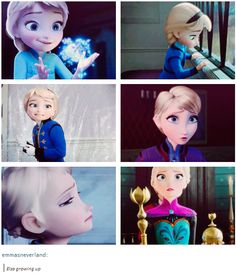Elsa growing up [gifset]