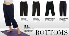 Plus Size Pants for Women. Are you an apple shape body? pear? We have the pant fit for you at JunoActive.