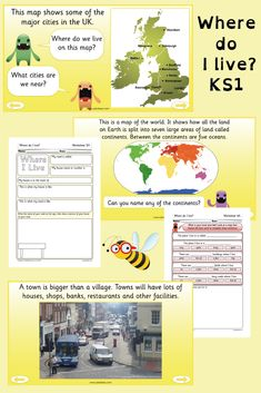 All About Me Geography Lessons – Home Education Geography Activities, Geography Lessons, Learning Activities, All About Me Ks1, Where Do I Live, Home Education Uk, Indoor Activities For Kids, Toddler Activities, Home Learning