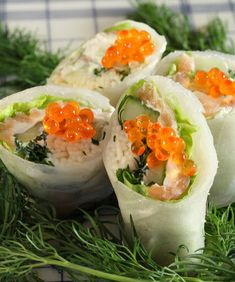 Nordic Spring Rolls Great Appetizers, Appetizer Ideas, How To Make Cheese, Food N, Spring Rolls, Rolls Recipe, Smoked Salmon, Meal Planner, Calorie Diet