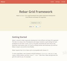 Rebar Grid Framework, #Code, #CSS, #CSS3, #Framework, #Grid, #Resource, #Responsive, #Web #Design, #Development