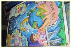 poster on save water in hindi / poster on save water - poster on save water creative - poster on save water handmade - poster on save water drawing - poster on save water for kids - poster on save water art - poster on save water in hindi Earth Drawings, Art Drawings For Kids, Kids Poster, Poster On, Poster Ideas, Save Water In Hindi, Save Water Poster Drawing, Meaningful Drawings, Earth Day Posters