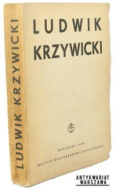 Ludwik Krzywicki  Warszawa 1938