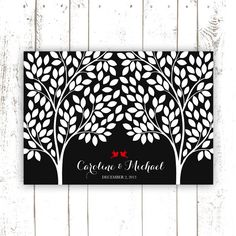 Guest Book  Wedding Guest Book Tree by MooseberryPrintShop on Etsy, $54.00