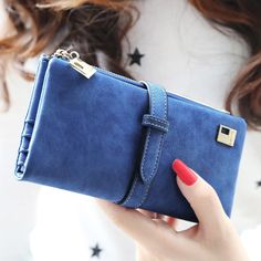 Women Wallet Luxury Matte PU Female Leather Card Wallet Long Zipper Soft Fashion Ladies Long Day Clutch Coin Purse Card Holder -- Continue to the product at the image link.