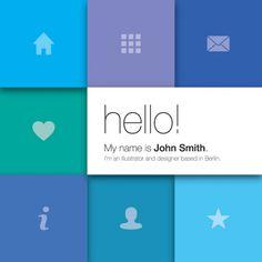 Portfolio Blocks Vector Graphic — modern, metro, icons, page, web Web Design Tools, Tool Design, App Design, Flat Design, Portfolio Images, Portfolio Website, Creative Portfolio, Cv Website, Website Ideas