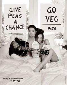 "As a vegan I love this whimsical, sensual take off of John & Yoko's ""Give Peace a Chance.""  www.peta.org"