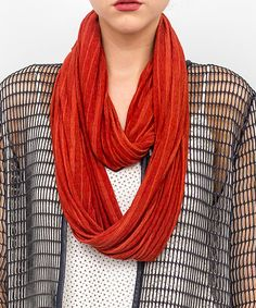 Take a look at this Rust Slinky Infinity Scarf today!