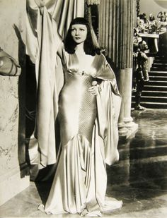 """Claudette Colbert in """"Cleopatra,"""" costumes by Travis Banton, (1934)"""