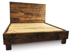 $750 | Farm Style Platform Bed Frame and Headboard set - Rustic - Old World