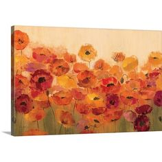 Great Big Canvas 'Summer Poppies' by Silvia Vassileva Painting Print on Canvas