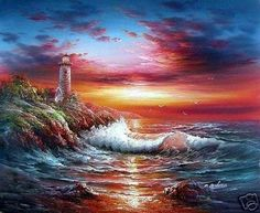 lighthouses in north carolina | PAINTINGS OF LIGHT HOUSES « Paintings For web search