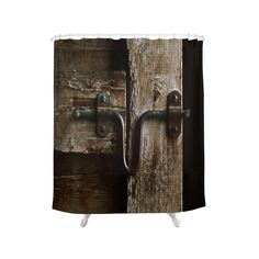 Shower Curtains featuring The Box Stall Door by Dorothy Pinder Shower Curtains, Western Bathrooms, Barn Stalls, Aging Wood, Dot And Bo, Bath Accessories, Modern Furniture, Door Handles