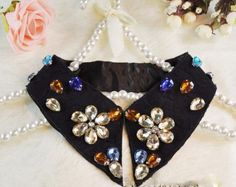 Amazon.com: Vintage Lace Gem Flower Collar Necklace: Beauty