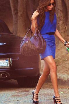 #Royal Blue. Hot.   blue dresses #2dayslook #new #dresses #nice  www.2dayslook.com