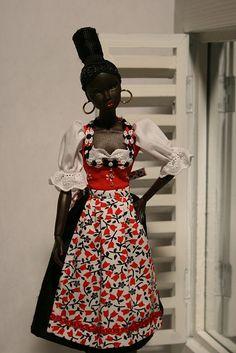 Fashion Royalty Nadja in Dirndl by Bavarian Dolls, via Flickr