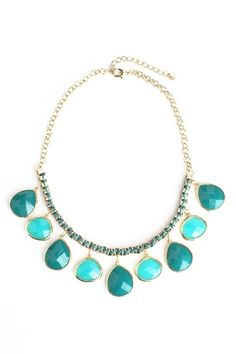 Sea Jewels Necklace in Teal