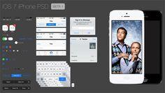 Бесплатный полноценный набор элементов графического интерфейса iOS7 для Photoshop
