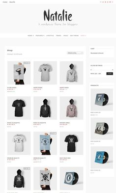 CreativeMarket - Natalie - A BLOG and SHOP Theme Free Download Travel Music, Themes Free, Ecommerce, Shopping, E Commerce