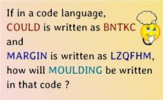 If in a code language, COULD is written as BNTKC and MARGIN is written as LZQFHM, how will MOULDING be written in that code?