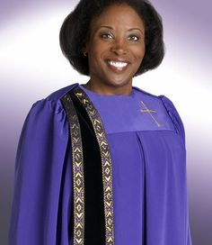 63a40d037936 clergy robes for women | Womens Clergy Robe Evangelist H-157 - Purple/Black