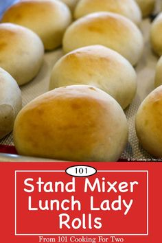 Stand Mixer Lunch Lady Rolls Everybody will love these tasty rolls. Great old fashion school lunch lady rolls made stand mixer easy with step by step photo instructions. Easy Yeast Rolls, Bread Rolls, School Lunch Recipes, Lunch Restaurants, Homemade Dinner Rolls, Cooking For Two, Stand Mixer, Rolls Recipe, Yummy Food