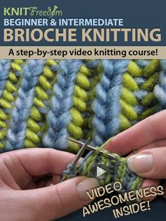 Learn Nancy Marchant's style of brioche knitting without the book. 25 brioche-stitch videos teach you techniques all the way through two-color brioche...
