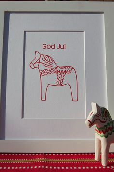 dala horse print. Swedish roots are coming through!