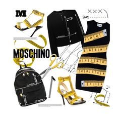 """Moschino"" by pisces7 ❤ liked on Polyvore featuring Moschino, Artifort, Maison Margiela and inchesprint"