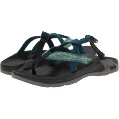 Chaco Hipthong Two EcoTread Women's Sandals, Red ($56) ❤ liked on Polyvore featuring shoes, sandals, red, stretch sandals, strap shoes, red strappy sandals, red strap sandals and stretchy shoes