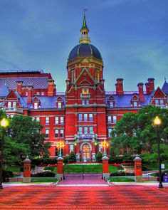 The Johns Hopkins Hospital is the teaching hospital and biomedical research facility of Johns Hopkins School of Medicine, located in Baltimore, Maryland. It was founded using money from a bequest by philanthropist Johns Hopkins. The Johns Hopkins Hospital and the Johns Hopkins School of Medicine are the founding institutions of modern American medicine and are the birthplace of numerous traditions including rounds, residents and housestaff.
