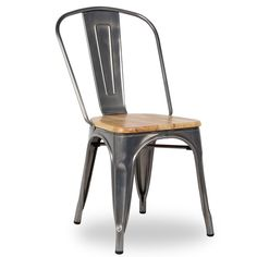 silla con asiento de madera antique terek vintage. Black Bedroom Furniture Sets. Home Design Ideas