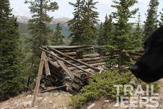 Old abandoned cabin on Iron Chest Trail, Buena Vista, CO #4x4 #trailjeeps #jeep #jkwrangler #jk #colorado #fourwheeling #offroad #cars