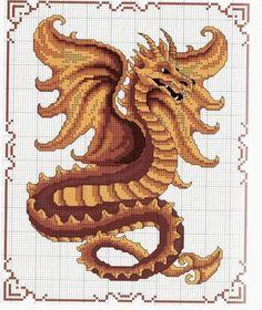 Как вышить крестиком дракона? Где найти схему вышивки дракона? Cross Stitch Pictures, Dragons, Stitching, Blanket, Dots, Dinosaurs, Animales, Costura, Stitch