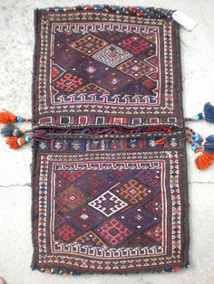 When did the motorcycle phase out the Donkey? Either way, the Persian Bakhtiari tribe nestled all along the Zagros mountain range made their own luggage! Check out this Beautiful saddle bag incorporat