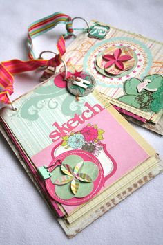 Sketch pads to tuck into vacation boxes - Amy Peterman for Fancy Pants Designs