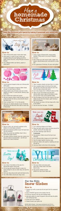 Have a homemade Christmas - I am terrible at craft, but even I might try some of these