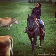 Kaitlyn (Cassandra) this weekend riding Hawk in the cow pasture at Amber Marshall's farm.