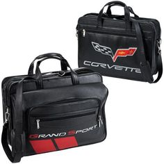 b813952a34 C6 Corvette Grand Sport All Leather Briefcase is loaded with extra pockets