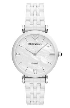 Women's Emporio Armani Ceramic Bracelet Watch