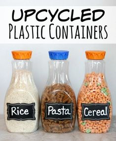 2d5cf553e Upcycled Plastic Containers to use in your Pantry - Happy-Go-Lucky   wastefreeliving