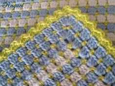 Box stitch with box stitch and shell edging