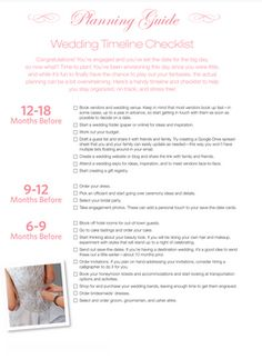 Wedding Timeline Checklist  Wedding Planning Checklist Wedding
