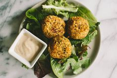 herb and za'atar falafel | a thought for food