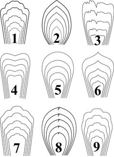 all 9 templates paper flower templates giant paper flower template 1-9
