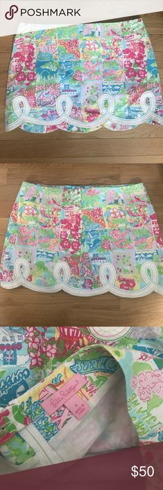 Vintage Lilly Pulitzer Skirt Gorgeous Lilly Pulitzer State of Mind skirt! Worn about three times, it never fit me very well. Sad to part with this skirt! Lilly Pulitzer Skirts