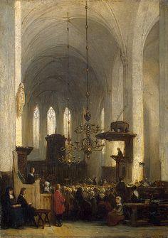 In the Church, Johannes Bosboom