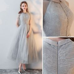 Chic / Beautiful Grey Homecoming Graduation Dresses 2018 A-Line / Princess Scoop Neck Short S. - Chic / Beautiful Grey Homecoming Graduation Dresses 2018 A-Line / Princess Scoop Neck Short Sleeve Tea-length Formal Dresses, Source by - Tea Length Formal Dresses, Best Formal Dresses, Grad Dresses Short, Graduation Dresses, Prom Dresses, Wedding Dresses, Bridesmaid Gowns, Short Prom, Dresses Dresses
